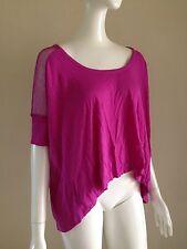 Victoria's Secret M Boxy Oversize Tee Mesh Three-Quarter Sleeve Violet Shirt