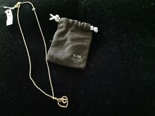 New Coach Gold Heart Necklace