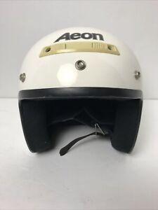AEON AR-C DOT White Fiberglass Motorcycle Helmet Childs L/XL 6-5/8 - 6-3/4