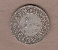 1899 Newfoundland Victorian Silver 50 Cent ~ Very-Good+ Condition!