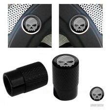 Brembo Brake Caliper Inserts & Logo Valve Caps For Harley Touring - Grey Skull G