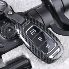 Carbon Fiber Key Fob Cover Case Holder Fit For 2019 Hyundai Santa Fe Accessories