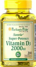 Vitamin D3 2000 IU x 200 Softgels High Potency - 24HR DISPATCH