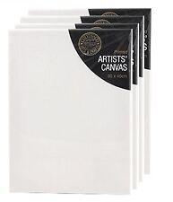 Confezione da 4 Vuoti Bianco Verniciato Artisti Tela con in Legno Cornice