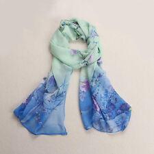 Fashion Women Long Soft Wrap Lady Shawl Silk Chiffon Scarf Printed Stole Scarves
