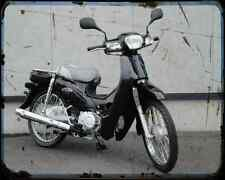 Honda C50 Cub 07 02 A4 Metal Sign Motorbike Vintage Aged