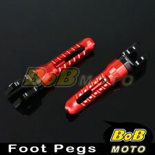 Billet Red Anodized Front Foot Pegs For Triumph Tiger 1050 06 07 08-12
