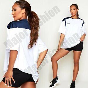 Ladies Womens Umbro White Oversize Logo Tee Tshirt Top Summer Lounge One Size
