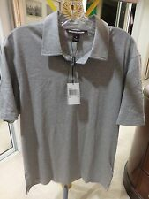 Michael Kors Mens M Polo Shirt 100% Cotton Solid Gray NEW With TAGS SRP $155.00