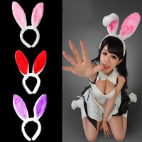 Lovely Long Bunny Rabbit Ears Plush Hairband Headband Christmas Party Cosplay