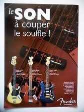 PUBLICITE-ADVERTISING :  Guitares FENDER Deluxe Active  12/2004