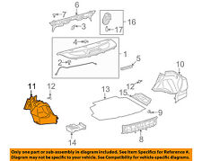 TOYOTA OEM 11-13 Corolla Interior-Rear-Side Trim Panel Left 6472002230C0