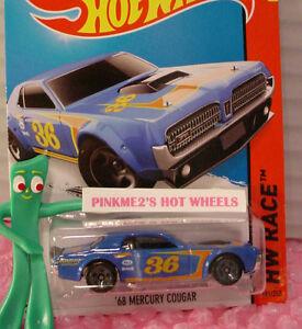 2015 Hot Wheels '68 MERCURY COUGAR #181∞ Blue;gray 5sp∞Valvoline 36∞Aces∞Case H