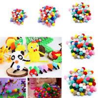 Wholesale 100PCS Mixed Color Mini Soft Fluffy Pom Poms Pompoms Ball 10mm 1-3cm