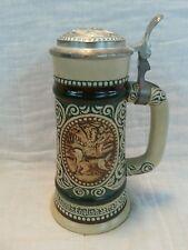 Vintage AVON Lidded Beer Stein 1978 Hunting Fishing Rainbow Trout Engl Setter