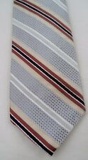 100% Silk Robert Talbott Nordstrom Power Tie Necktie Silver Brown Gold Stripes