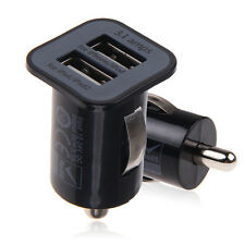 Dual 2 USB Car Auto Charger Adapter fr iPhone 4 5 Samsung Galaxy S 3 4 5 Tab HTC
