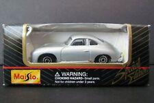 NEW Maisto Special Edition Porsche 356 Coupe 1:64 Model Car Silver NOS
