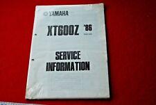 yamaha xt600z service information sheets  1986 55w also 85 model
