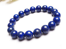 10mm Natural Blue Lapis Lazuli Gemstone Beads Stretch Bracelet Bless You Aaaa