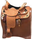 """Big Horn Show Saddle 16"""" Wide Tree Tooling & Silver w/Headstall & Breast Collar"""