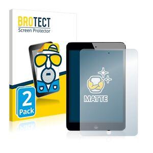 2x Display Schutz Folie für Apple iPad Mini 2 2013 Matt Entspiegelt