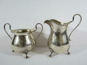 (2) Weidlich Sterling Silver Footed Creamer and Sugar