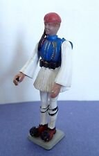 Vintage Greek Evsona Soldier Blue White Toy Aohna Athens 1960's. Made in Greece
