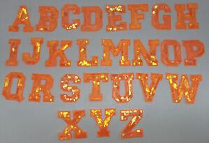 Pick 2: Small Orange Sequin Letters