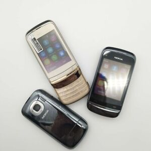 Nokia C Series C2-03 - Chrome Black white (Unlocked) Cellular Phone