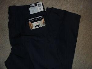 NWT HAGGAR BLACK LABEL COMFORT WAIST AMERICAN FIT NAVY DRESS PANTS SIZE 42 X 32