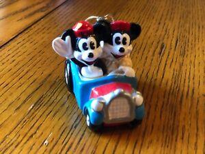 Antique Vintage Disney Mickey Minnie Mouse Christmas Tree Ornament Schmid Taiwan