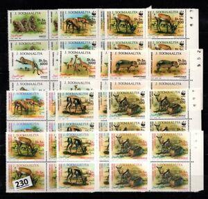 # 4X SOMALIA 1992 - MNH - WWF - ANIMALS