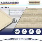 20' x 24' Rectangle Square Steel Wire Heavy Duty Patio Sun Shade Sail Fabric