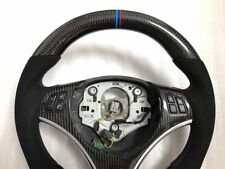 BMW Carbon Fibre E90 E92 E93 M3 DCT DKG FLAT BOTTOM Thicker Steering WHEEL UK