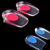FP- BL_ Gel Shoes Insoles Cushion Heel Cup Massage Pads Inserts Heel Pain Spur F