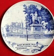 ASSIETTE Creil Montereau - publicité  étrennes 1898