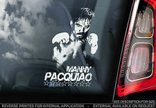 Manny Pacquiao-Voiture Fenêtre Autocollant-WBC WBO de Boxe Champion SIGNE Phillipines