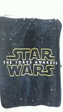 STAR WARS THE FORCE AWAKENS PLUSH THROW BLANKET 52X39 Black