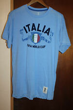 FIFA World Cup Brasil Italia National Team Men's Blue T Shirt Size Medium