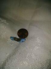 VINTAGE Silver Enamel DUTCH CLOGS SHOE Blue Bracelet Charm