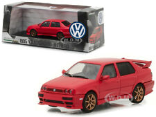 1995 VOLKSWAGEN JETTA A3 RED 1/43 DIECAST MODEL CAR BY GREENLIGHT 86313