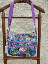Kipling Alvar Aloha Grove Crossbody Bag Purple TEAL Purse NWT