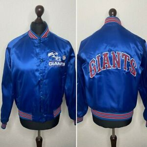Vintage NFL New York Giants Bomber Jacket Size M Chalk Line