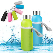 Sport Water Bottle Cover Neoprene Insulated Sleeve Bag Case Pouch for 500mL Blue