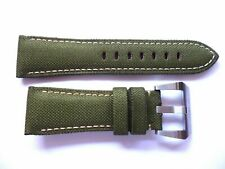 Canvas Leather strap band 26mm for Panerai --- Militay Army Green nylon 26 mm