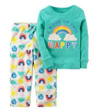 Carter's  Rainbow (I Woke Up This Happy) Cotton & Fleece PJs Size 24 Months NWT