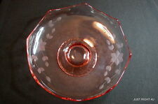"""Standard Glass (Norwood - Pink) 9 1/4"""" EIGHT POINT FOOTED BOWL"""