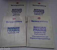 Werkstatthandbuch Nissan Prairie / Allrad Modellreihe M10 Stand 1983 4-teilig