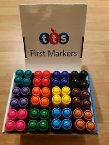 Kids First Washable Marker Pens safe child friendly 48 pack of assorted colours